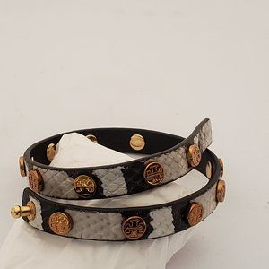 Tory Burch Leather Wrap-around Bracelet